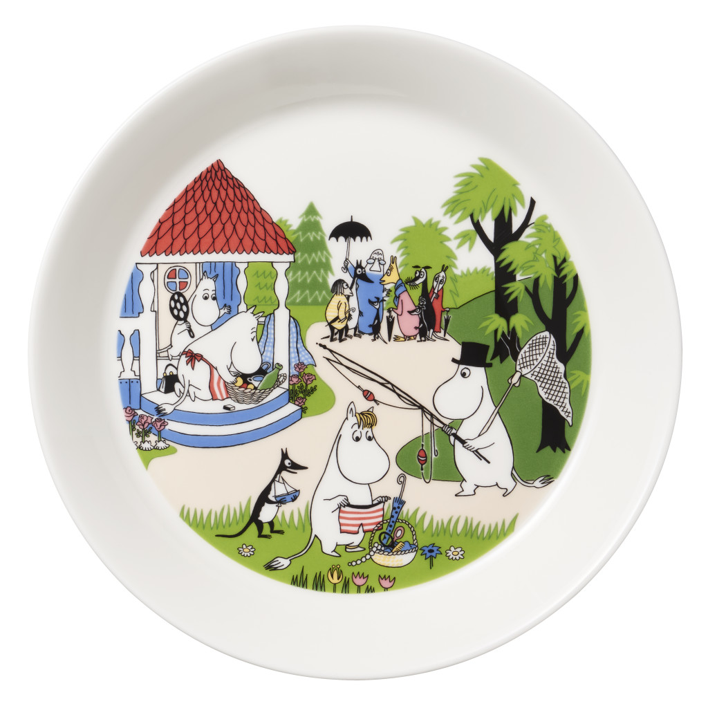 Moominplate19cmGoingonvacation